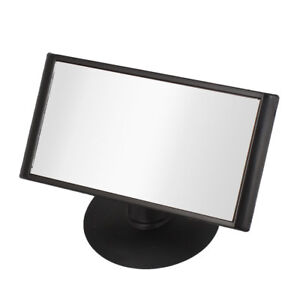 Black Frame Wide Angle Rectangular Car Rear View Blind Spot Mirror 105 X 55mm