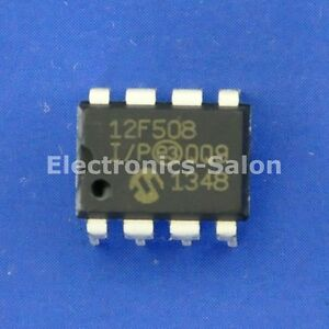 60x Pic12f508 Microchip Dip 8 8 bit Flash Microcontroller Mcu Ic