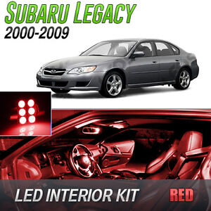 2000 2009 Subaru Legacy Red Led Lights Interior Kit