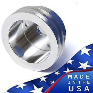 Small Block Chevy Crankshaft Pulley V belt 2v Crank Lwp Sbc 350 327 400 Aluminum