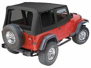 Pavement Ends Replay Top Black Denim 88 95 Jeep Wrangler Yj Tinted W Skins