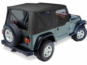 Pavement Ends Replay Top Black Denim Tinted W Skins 97 06 Jeep Wrangler Tj