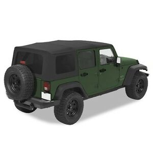 Pavement Ends Replay Top Black Diamond 07 09 Jeep Wrangler Unlimited Jk 4 Door