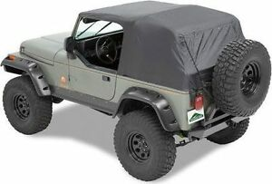 Pavement Ends Emergency Top Quick Protection Black Fits 97 06 Jeep Wrangler Tj