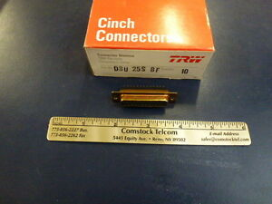 Trw cinch Dbu 25s Bf Connector With Pins Pcb Mount Lot Of 10