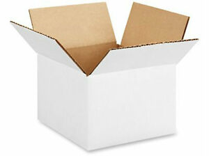 5 X 5 X 5 White Corrugated Boxes Lot Of 1100 Boxes Free Shipping