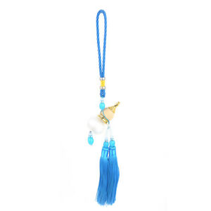 Tassels Beads Accent Blue Calabash Pendant Car Hanging Decoration