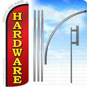 Hardware Windless Swooper Feather Flag Kit Banner Sign Rq