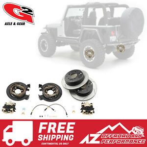 G2 Axle Gear Rear Disc Brake Conversion Kit W Rotors 87 06 Jeep Tj Lj Yj Xj