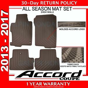 Genuine Oem Honda Accord 2dr Black All Season Floor Mat Set 13 17 08p13 T3l 110