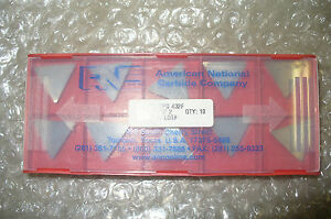 American National Carbide Insert Cutting Tool P n Tpg 432 an 2 New 10pcs