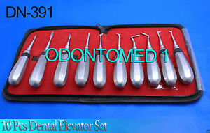 10 Dental Tooth Elevators Set Surgical Dental Instruments Dn 391