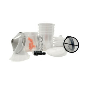 Devilbiss Dekups Trial Kit Disposable Gravity Feed Paint Gun Cups Lids 803130