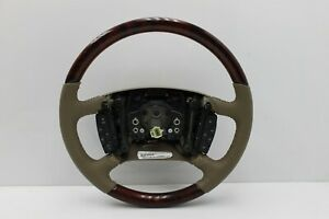 New Oem Lucerne Walnut Burl Wood And Cashmere Leather Steering Wheel W controls