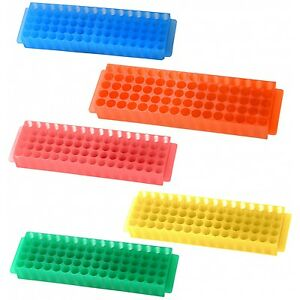 Tube Rack Holder Box Test Vial Small Bottles Container Holder Assorted Colors