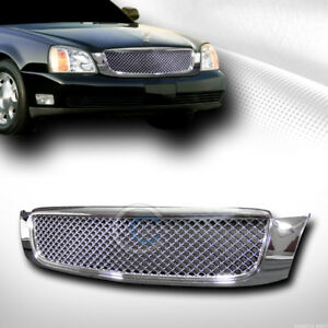 Fits 00 05 Cadillac Deville Chrome Mesh Front Hood Bumper Grill Grille Guard Abs