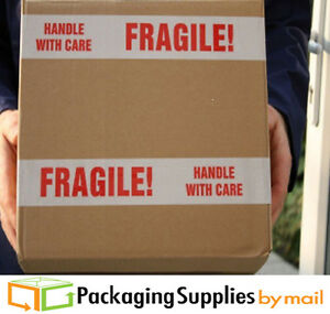 Brand New Fragile Handle With Care Preprinted Tape 144 Rolls 3 X 110 Yards