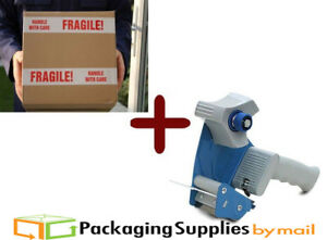 24 Rolls Fragile Handle With Care Tape 3 X 110 Yds 3 Dispenser