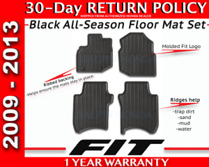 Genuine Oem Honda Fit All Season Mat Set 2009 2013 Black 08p13 Tk6 110