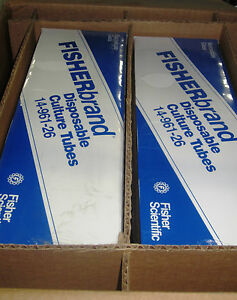 Fisherbrand Disposable Culture Tubes M 14 961 26 1 Box Has 4 Packs Of 250 New