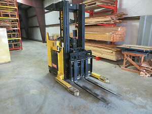 Hyster Forklift Electric Stand Up 3k N30xmdr2 Narrow Aisle 36v Truck W battery