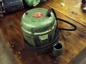 Fmc Immersljunior 50 7051 d Submersible Pump 460 Volt 60 Cycle 1 Amp used