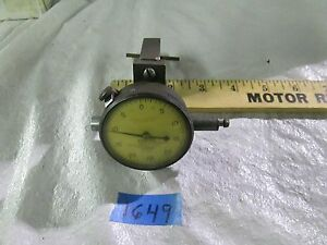 Federal Dial Indicator Model C71 Tolerance 0005 Range 125 On Clamp