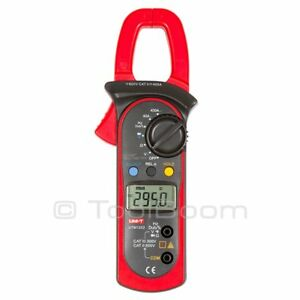 Uni t Ut203 Digital Clamp Meter Ac Dc Volt Amp Ohm Hz Duty Cycle Diode Cont Dmm