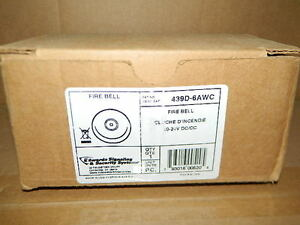 New Edwards Signaling 439d 6awc Fire Alarm Bell 20 24v Dc cc