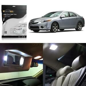 15x Deluxe White Led Lights Interior Package Kit For 2009 2014 Acura Tsx Sendan