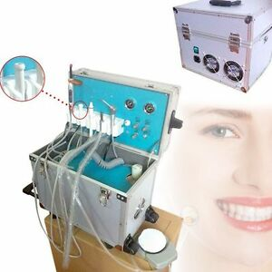 Dental Portable Delivery Unit system Rolling Case With Weak Suction 4 Holes Usa