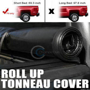 Roll up Soft Tonneau Cover 07 14 Silverado sierra 5 8 Ft 68 New Body Short Bed
