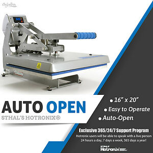 Stahls Hotronix Auto Open Clam Heat Press 16 X 20 Free Fedex Ground Shipping