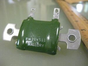 50 Pieces Mallory Fixed W w Resistor P n Rw20v511 Chassis Mount 1973 New
