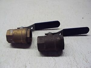 Nibco 1 1 2 Valve lot Of 2 Used