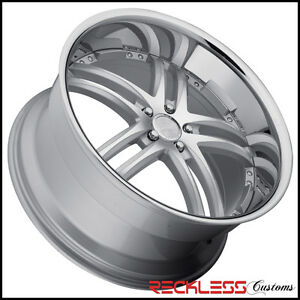 20 Concept One Rs 55 Staggered Wheels Silver Chrome Lip Fits Bmw E90 M3 Sedan