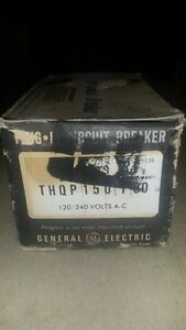 Ge Thqp150 1p 50 Amp 120 Volt 10ka Thin Circuit Breaker New Box Of 12