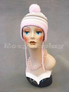Female Mannequin Head Bust Wig Hat Jewelry Display vf004