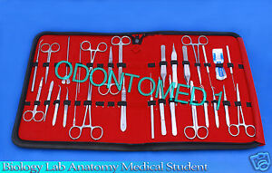 35 Pc Biology Lab Anatomy Medical Student Dissecting Kit With Scalpel Blades 23