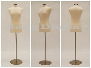 High Quality Size 6 8 Female Mannequin Dress Form f6 8w bs 04 Metal Base