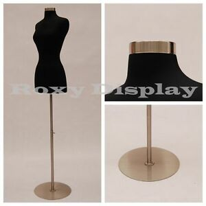 Size 2 4 Female Mannequin Dress Form Chrome Metal Round Base fwpb 4 Bs 04