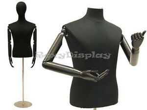 Male Shirt Hard Foam Dress Form With Arms And Head jf 33m02arm bs 05