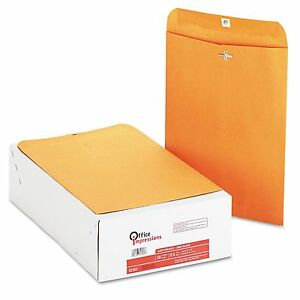 200 Business Envelopes 9x12 Kraft Clasp Manila Shipping Catalog Yellow Brown New