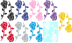 Roses Vinyl Graphic Car Decal Sticker 9 Color Choices