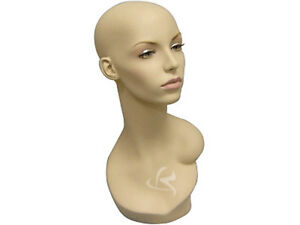 Female Mannequin Head Bust Wig Hat Jewelry Display md evenlyhd
