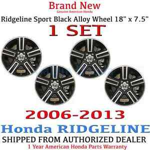 1 Set Genuine Oem Honda Ridgeline 18 X 7 5 Sport Black Alloy Wheel 2006 2013