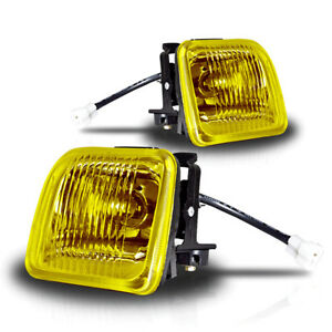 96 98 Honda Civic Coupe Sedan Yellow Fog Lights Pair
