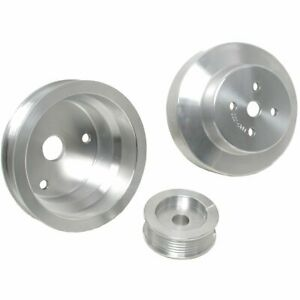 Bbk Set Of 3 Under Drive Pulleys New For Chevy Chevrolet C1500 Truck 1603