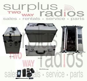 Padded Aluminum Racing Case Vertex Hyt Icom Motorola Radios Accessories 36871