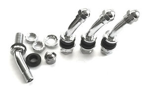 30 Degree Angle Metal chrome Tire Valve Stems High Pressure Bolt In 4 Pieces 506